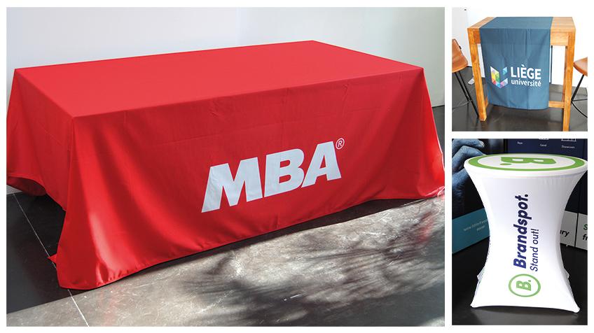 bedrukte tafellakens met eigen logo