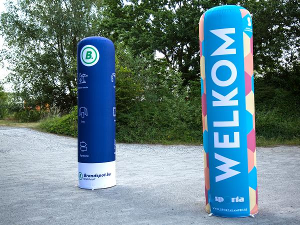 This inflatable column guarantees that your brand will not go unnoticed at events like exhibitions.