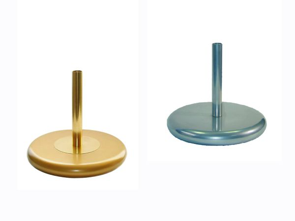 indoor vlaggenmast standaard - basis : zilverkleurig of goudkleurig