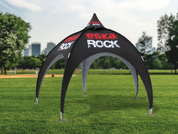 Brandspot's dome tent is the ideal way to grab lots of attention at events such as fairs and open days.