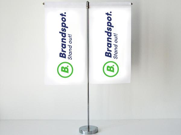 Table flags Twin tablelbanner doublesided