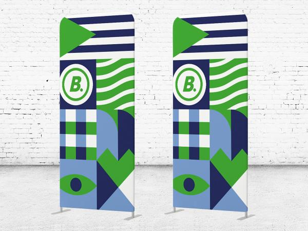 De Flexwall stand up alternatief voor roll up of pop up banner.