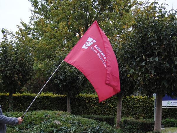 Vlag met telescopische stok