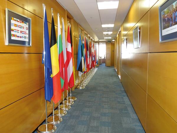 Indoor vlaggenmast