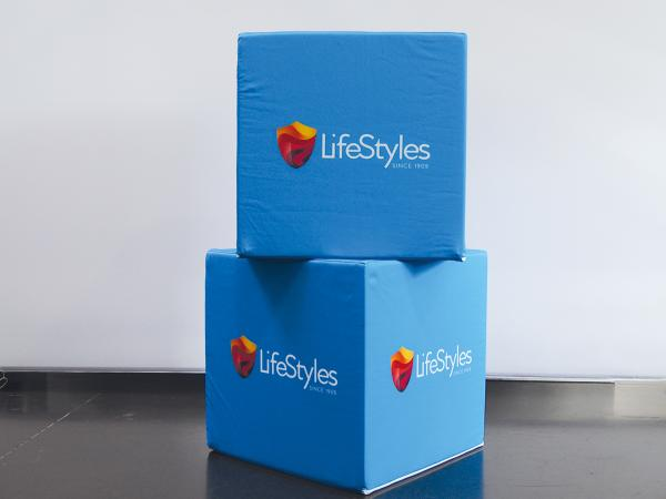 Custom Printed Promotional Seating,  Cube Seats