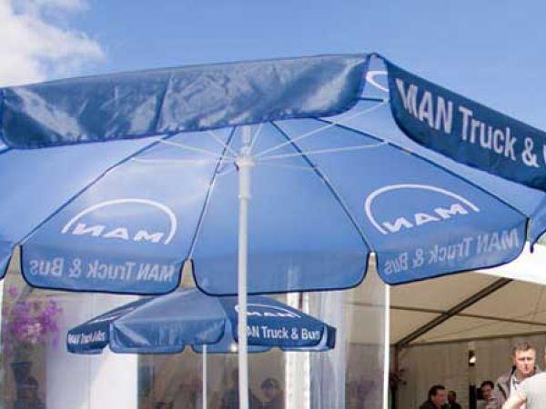 bedrukte parasol event en horeca