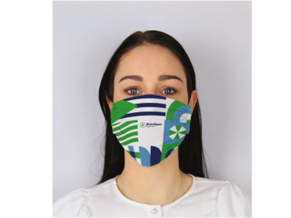 Bedrukte herbruikbare mondmaskers met logo