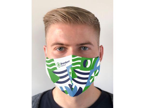 Bedrukte herbruikbare mondmaskers met logo, gepersonaliseerd