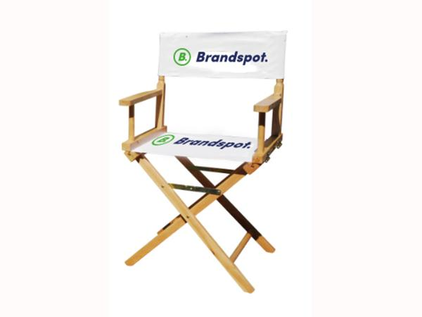 Director's chair with branding