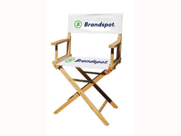Regisseursstoel met branding Brandspot