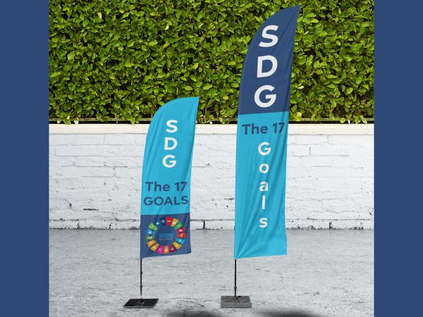 SDG beachvlag