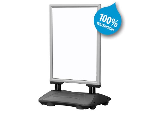 Double sided windmaster. Ideal for presenting your message in front of your shop.