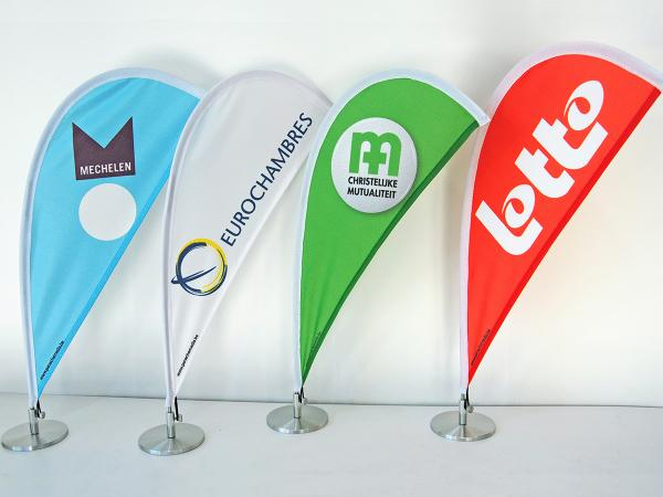 Funny Table Beachflags with logo