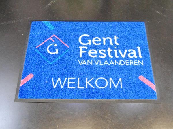 Bedrukte mat , tapijt of schoonloopmat is de plaats bij uitstek om uw logo of boodschap te plaatsen!
