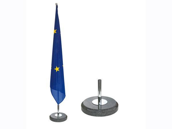 Indoor vlaggemast met basis in marmer voor 1vlaggenmast