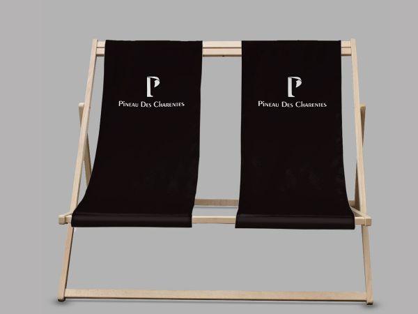 strandstoel met bedrukking  logo duo