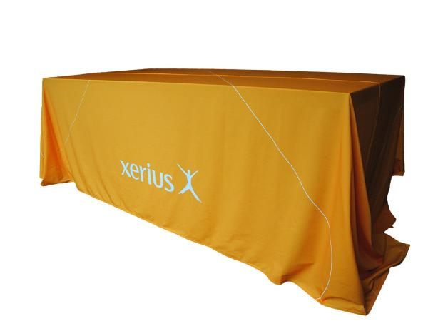 Branded table cloth or customized tablecloth for Xerius