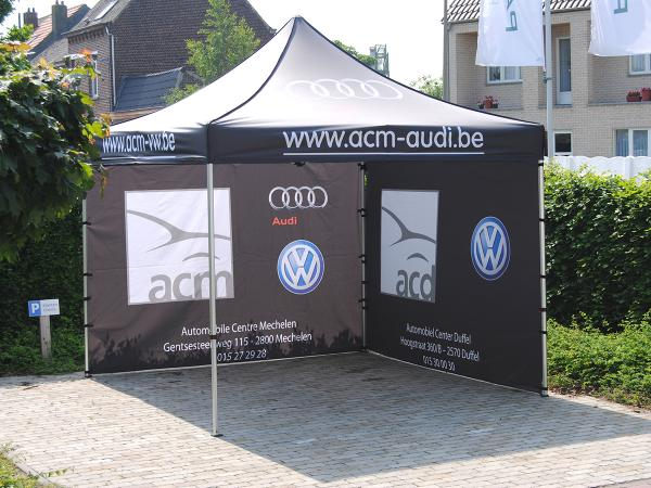 Bedrukte canopy pop up vouwtent