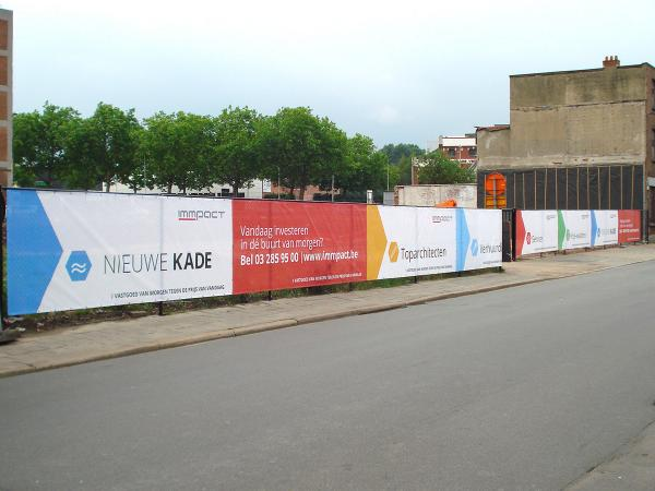 Banner for Heras-type barriers pour Immpact