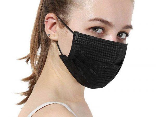 zwarte mondmaskers wegwerp chirurgische