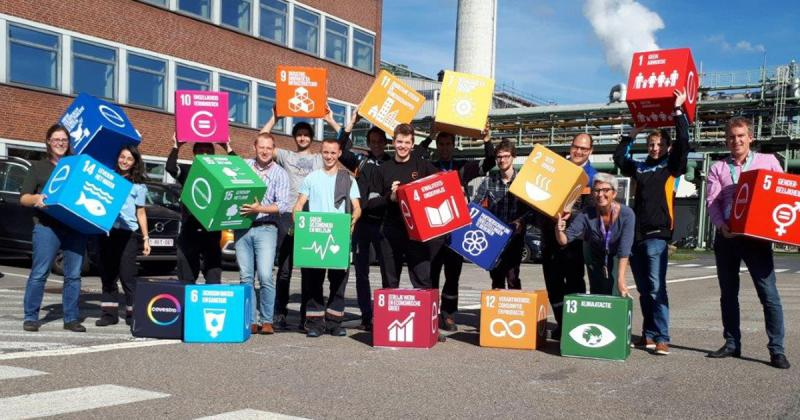 People of Covestro met SDG zitkubussen